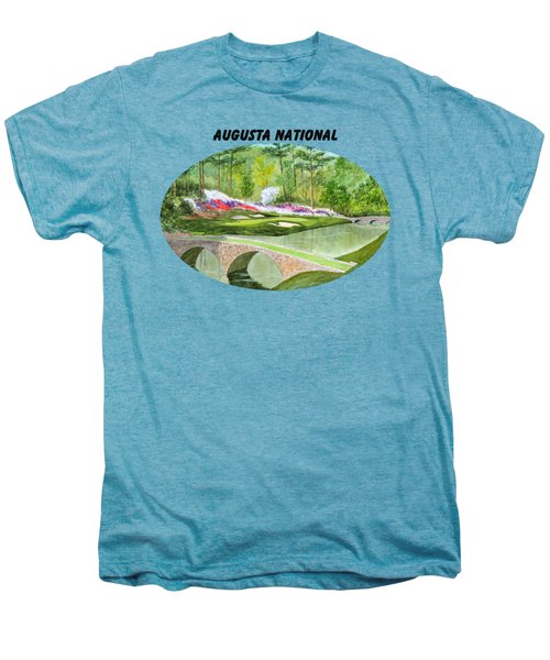 Augusta National Golf Course With Banner Men's Premium T-Shirt by Bill Holkham