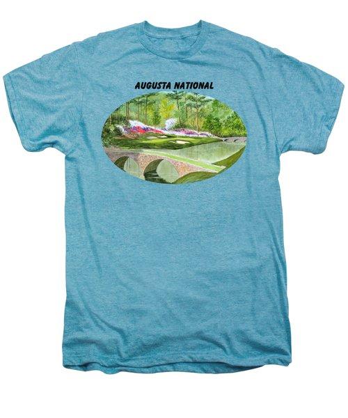 Augusta National Golf Course With Banner Men's Premium T-Shirt