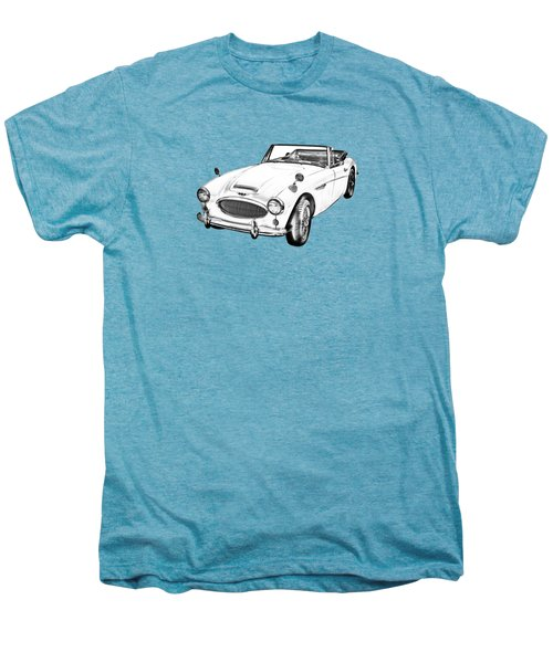 Austin Healey 300 Sports Car Drawing Men's Premium T-Shirt