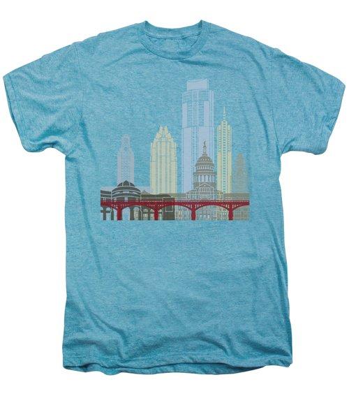Austin Skyline Poster Men's Premium T-Shirt by Pablo Romero