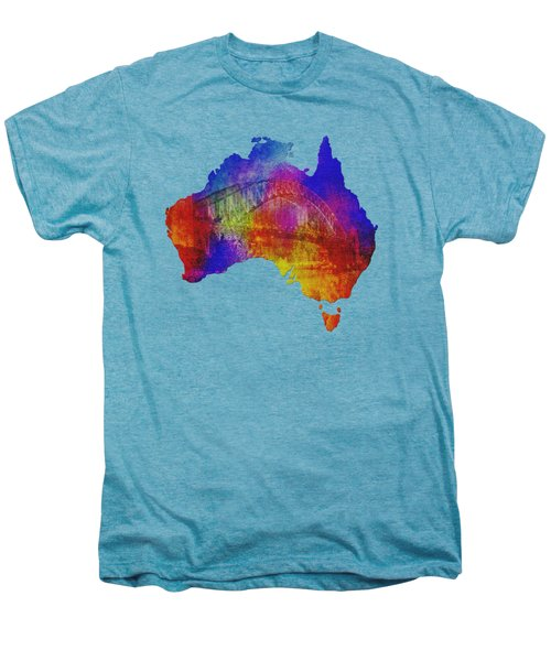 Australia And Sydney Harbour Bridge By Kaye Menner Men's Premium T-Shirt