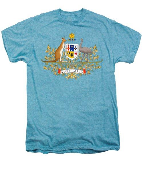 Australia Coat Of Arms Men's Premium T-Shirt by Movie Poster Prints
