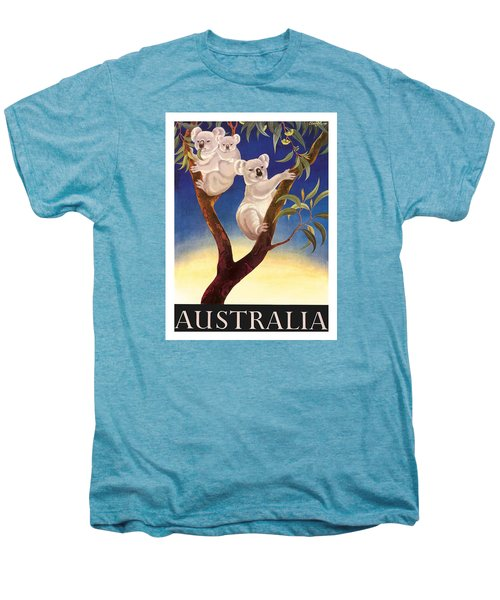 Australia Koala Vintage World Travel Poster By Eileen Mayo Men's Premium T-Shirt