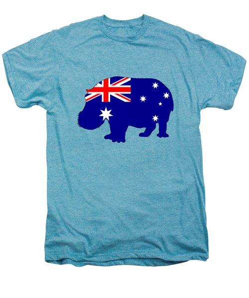 Australian Flag - Hippopotamus Men's Premium T-Shirt by Mordax Furittus