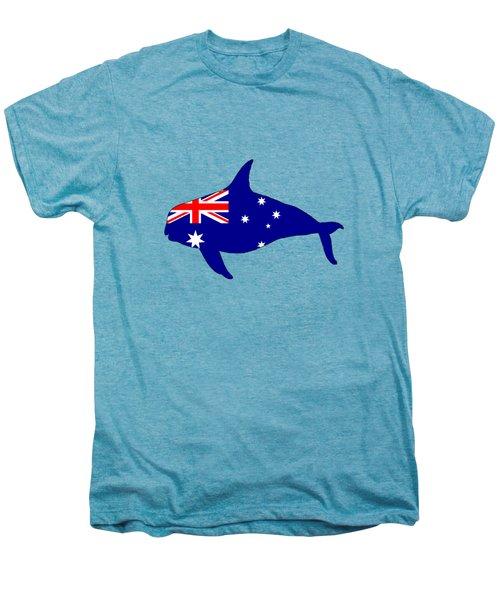 Australian Flag - Killer Whale / Grampus / Orca Men's Premium T-Shirt by Mordax Furittus