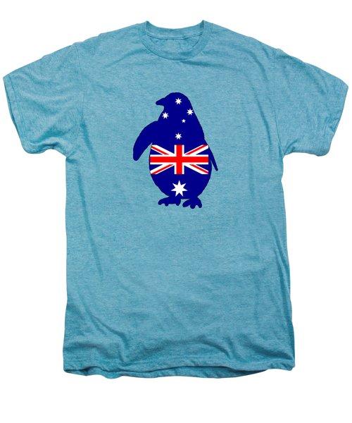 Australian Flag - Penguin Men's Premium T-Shirt