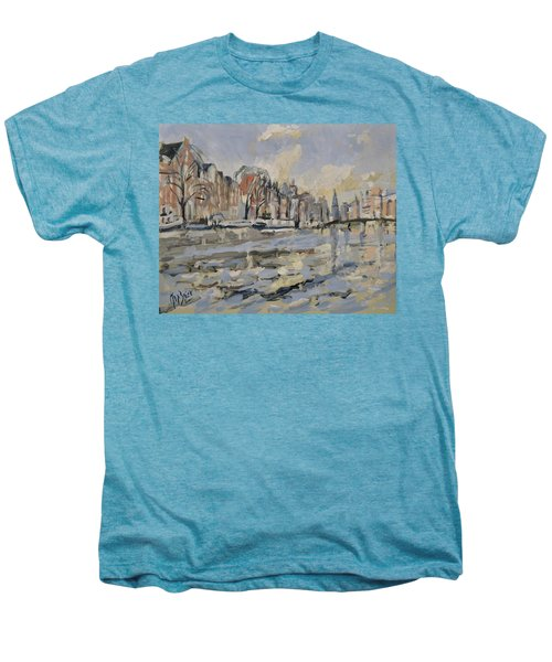 Autumn Along The Amstel In Amsterdam Men's Premium T-Shirt