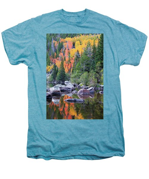 Men's Premium T-Shirt featuring the photograph Autumn At Bear Lake by David Chandler