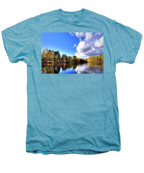 Men's Premium T-Shirt featuring the photograph Autumn Calm At Woodcraft Camp by David Patterson