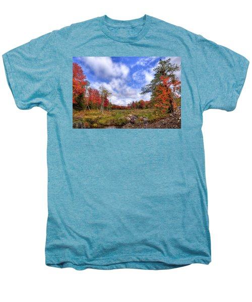 Men's Premium T-Shirt featuring the photograph Autumn On The Stream by David Patterson