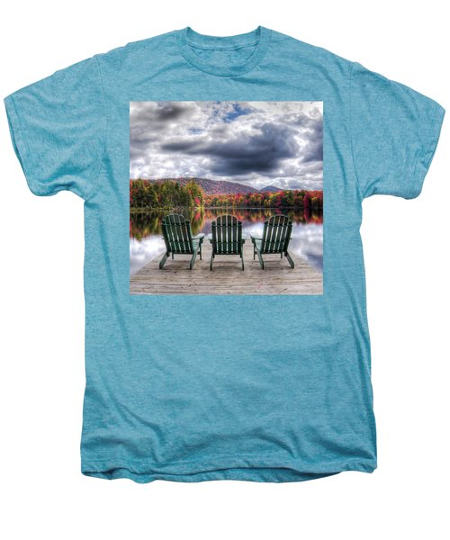 Men's Premium T-Shirt featuring the photograph Autumn On West Lake by David Patterson