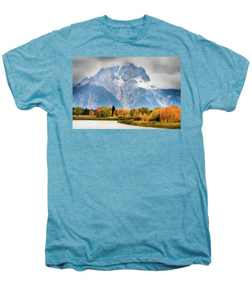 Autumn Storm Over Mount Moran Men's Premium T-Shirt