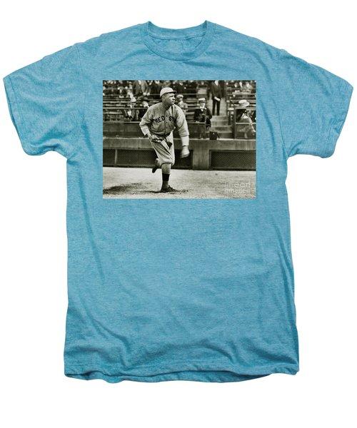 Babe Ruth Pitching Men's Premium T-Shirt by Jon Neidert