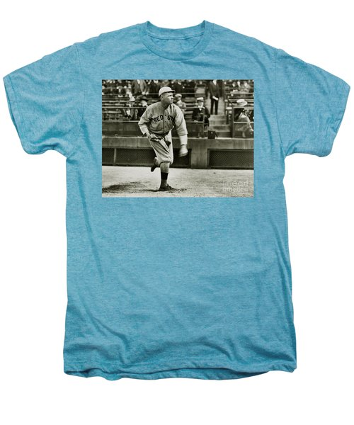 Babe Ruth Pitching Men's Premium T-Shirt