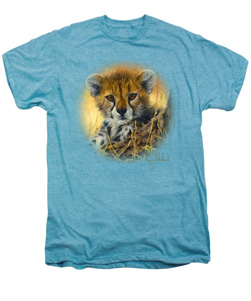 Baby Cheetah  Men's Premium T-Shirt by Lucie Bilodeau