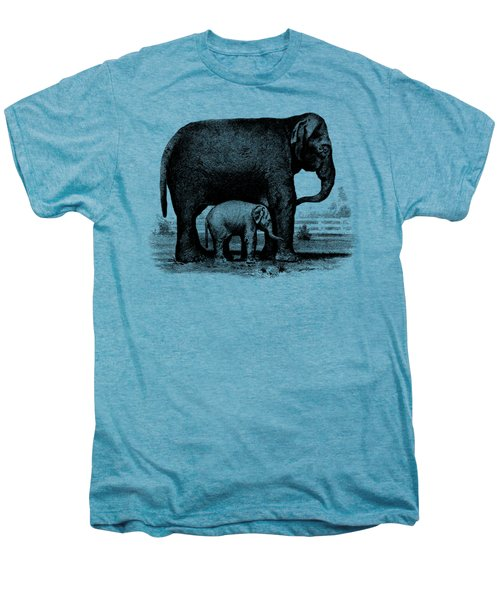 Baby Elephant T-shirt Men's Premium T-Shirt by Edward Fielding