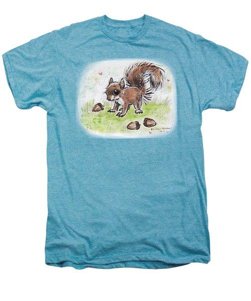 Baby Squirrel Men's Premium T-Shirt by Maria Bolton-Joubert