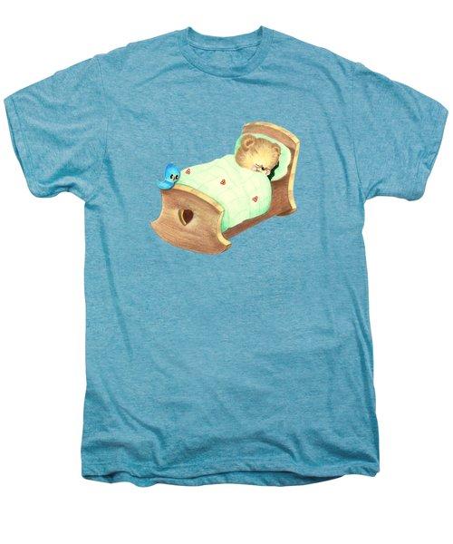 Baby Teddy Sweet Dreams Men's Premium T-Shirt by Linda Lindall