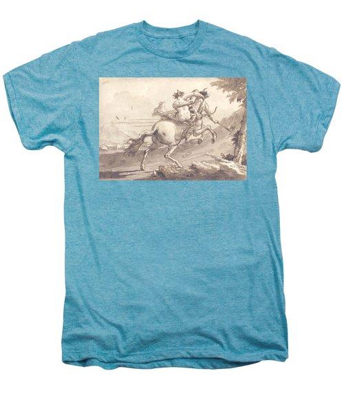 Back View Of A Centaur Abducting A Satyress Men's Premium T-Shirt