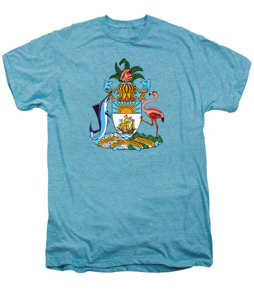 Bahamas Coat Of Arms Men's Premium T-Shirt
