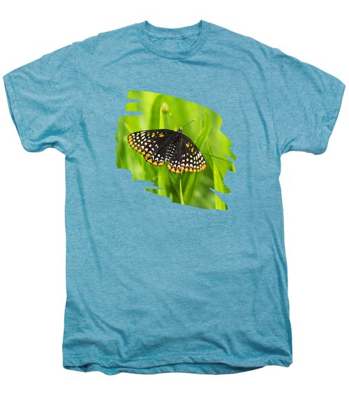 Baltimore Checkerspot Butterfly Men's Premium T-Shirt by Christina Rollo