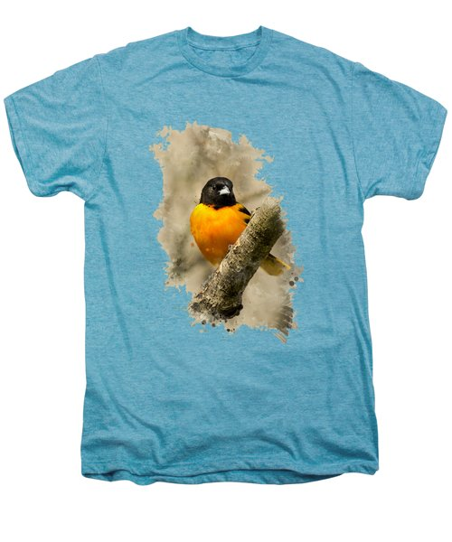 Baltimore Oriole Watercolor Art Men's Premium T-Shirt by Christina Rollo