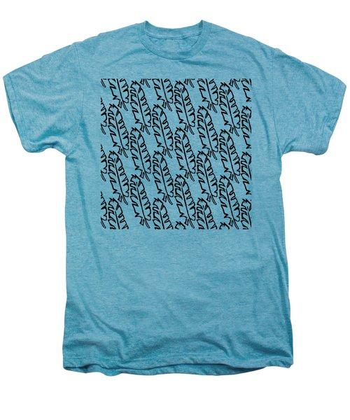 Banana Leaf Outline Men's Premium T-Shirt by Cortney Herron