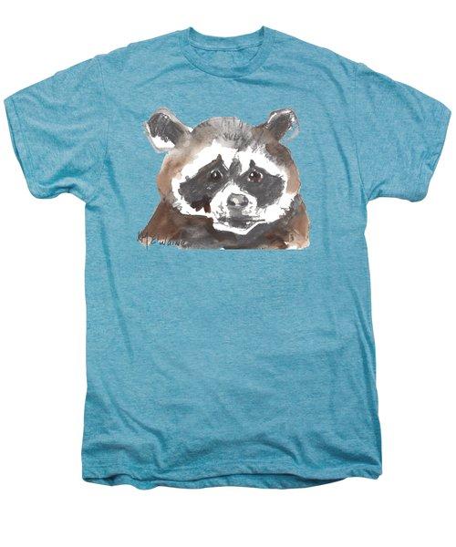 Bandit Raccoon Men's Premium T-Shirt by Kathleen McElwaine