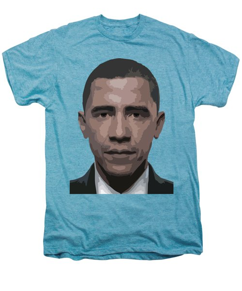 Barack Obama Men's Premium T-Shirt by Tshepo Ralehoko