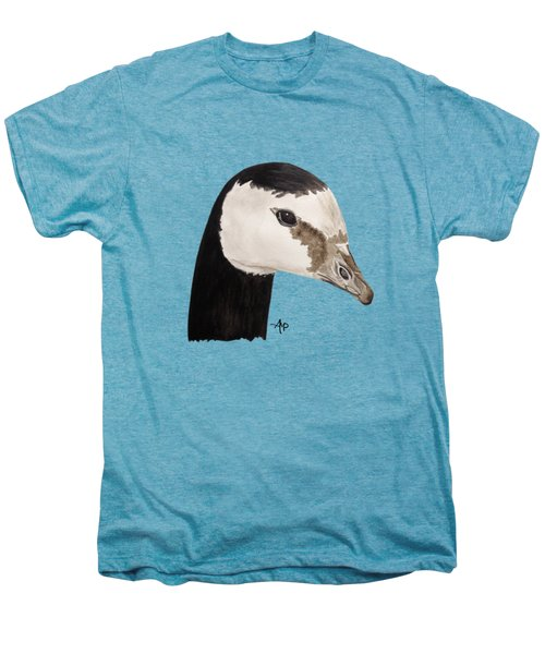 Barnacle Goose Portrait Men's Premium T-Shirt by Angeles M Pomata