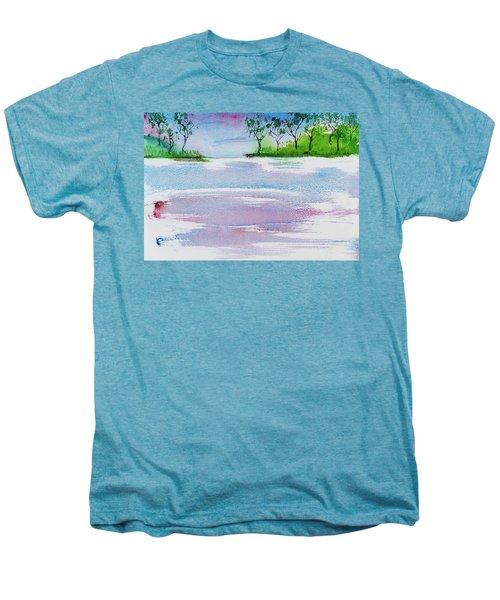 Gum Trees Frame The Sunset At Barnes Bay Men's Premium T-Shirt