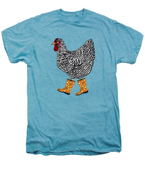 Barred Rock With Boots Men's Premium T-Shirt by Sarah Rosedahl