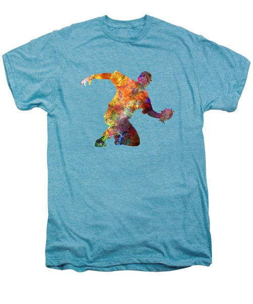 Baseball Player Catching A Ball Men's Premium T-Shirt by Pablo Romero
