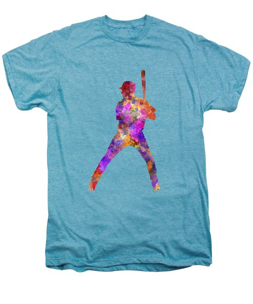 Baseball Player Waiting For A Ball Men's Premium T-Shirt