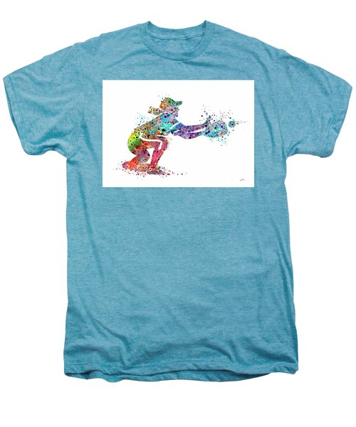 Baseball Softball Catcher 2 Sports Art Print Men's Premium T-Shirt