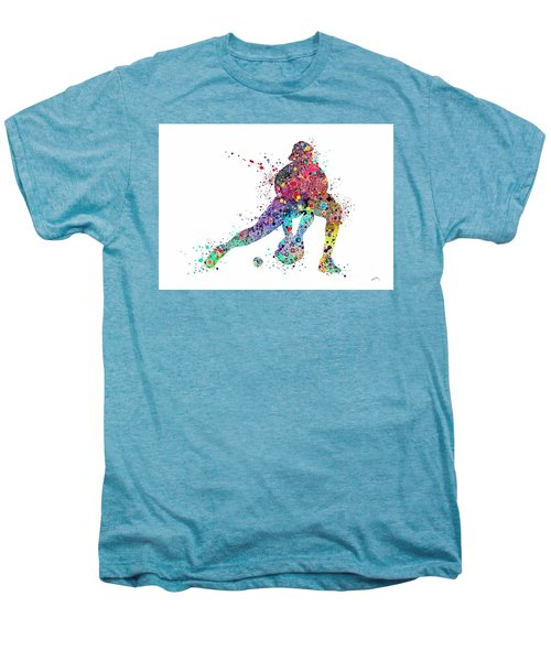 Baseball Softball Catcher Sports Art Print Men's Premium T-Shirt