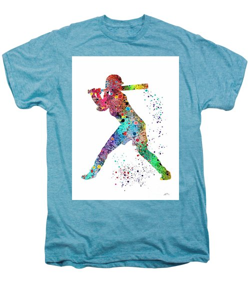 Baseball Softball Player Men's Premium T-Shirt