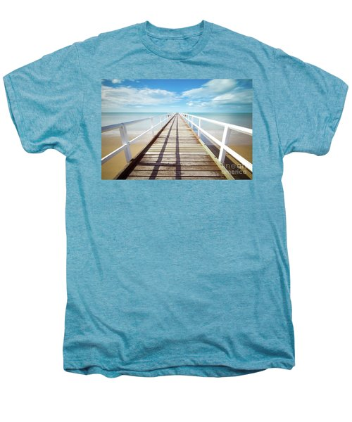 Men's Premium T-Shirt featuring the photograph Beach Walk by MGL Meiklejohn Graphics Licensing