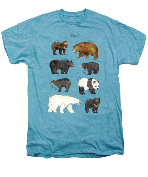 Bears Men's Premium T-Shirt by Amy Hamilton