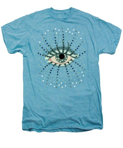Beautiful Abstract Dotted Blue Eye Men's Premium T-Shirt by Boriana Giormova