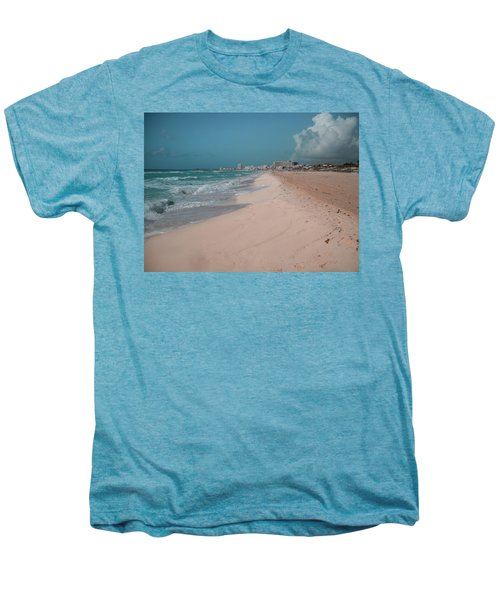 Beautiful Beach In Cancun, Mexico Men's Premium T-Shirt