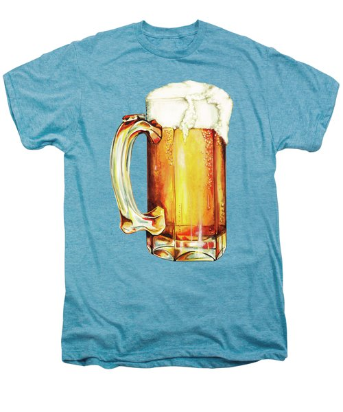 Beer Pattern Men's Premium T-Shirt by Kelly Gilleran