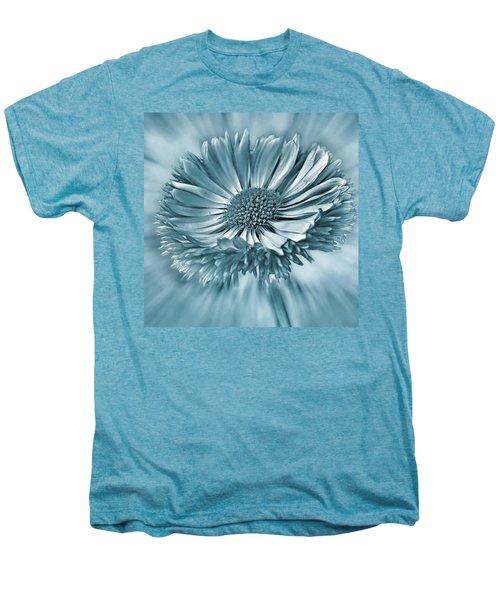 Bellis In Cyan  #flower #flowers Men's Premium T-Shirt