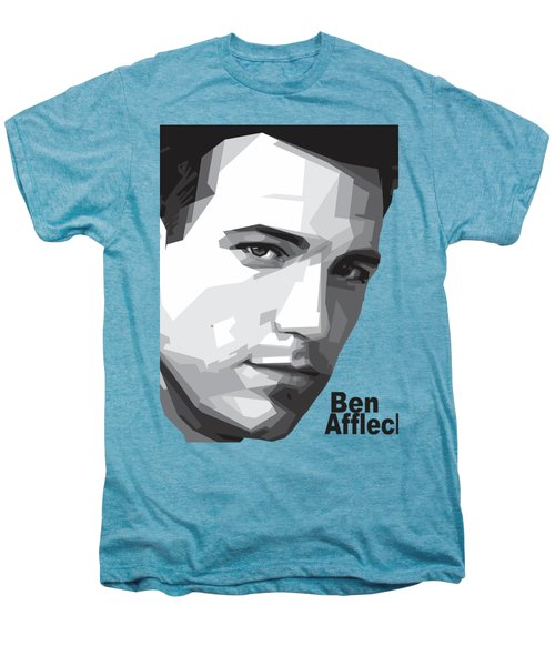 Ben Affleck Portrait Art Men's Premium T-Shirt by Madiaz Roby