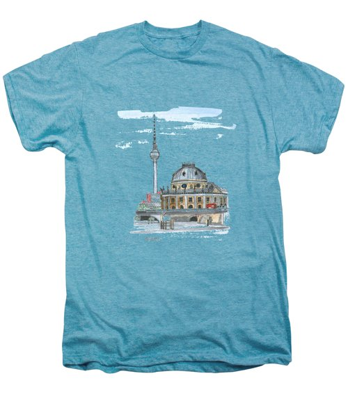 Berlin Fernsehturm Men's Premium T-Shirt by Petra Stephens