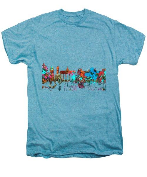 Berlin Germany Skyline  Men's Premium T-Shirt by Marlene Watson