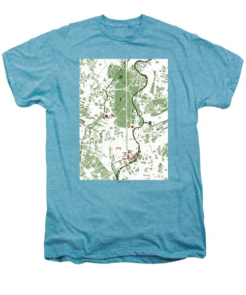 Berlin Minimal Map Men's Premium T-Shirt