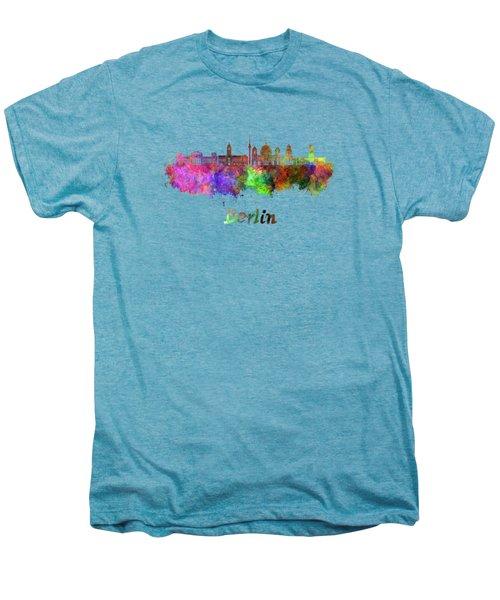 Berlin V2 Skyline In Watercolor Men's Premium T-Shirt by Pablo Romero