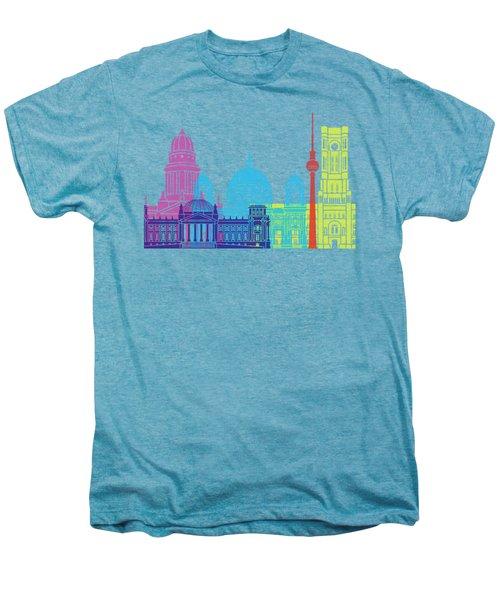 Berlin V2 Skyline Pop Men's Premium T-Shirt by Pablo Romero