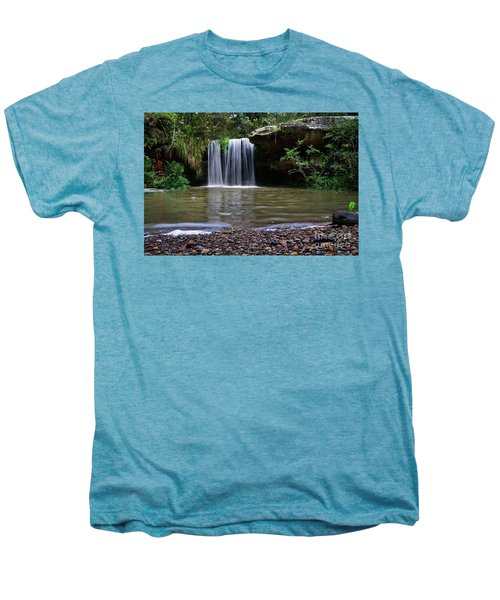 Men's Premium T-Shirt featuring the photograph Berowra Waterfall by Werner Padarin